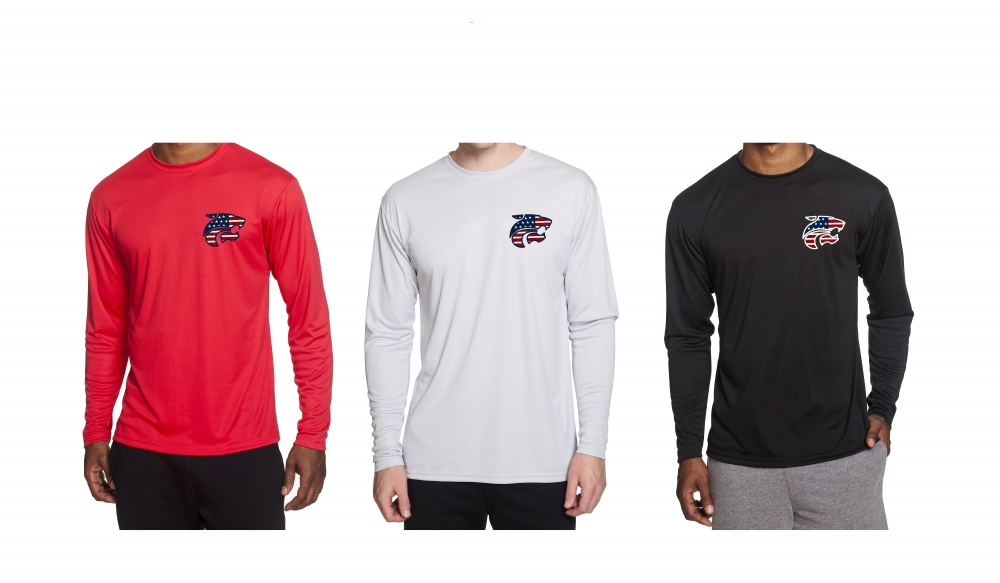 JAGS STARS & STRIPES OFFICIAL TEAM PERFORMANCE QUICK-DRY LONG SLEEVE SHIRTS by PACER