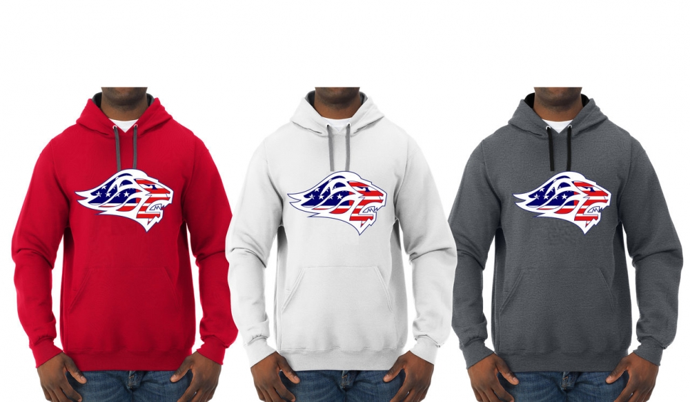 LIONS OFFICIAL TEAM STARS & STRIPES PULL OVER HOODIES by PACER