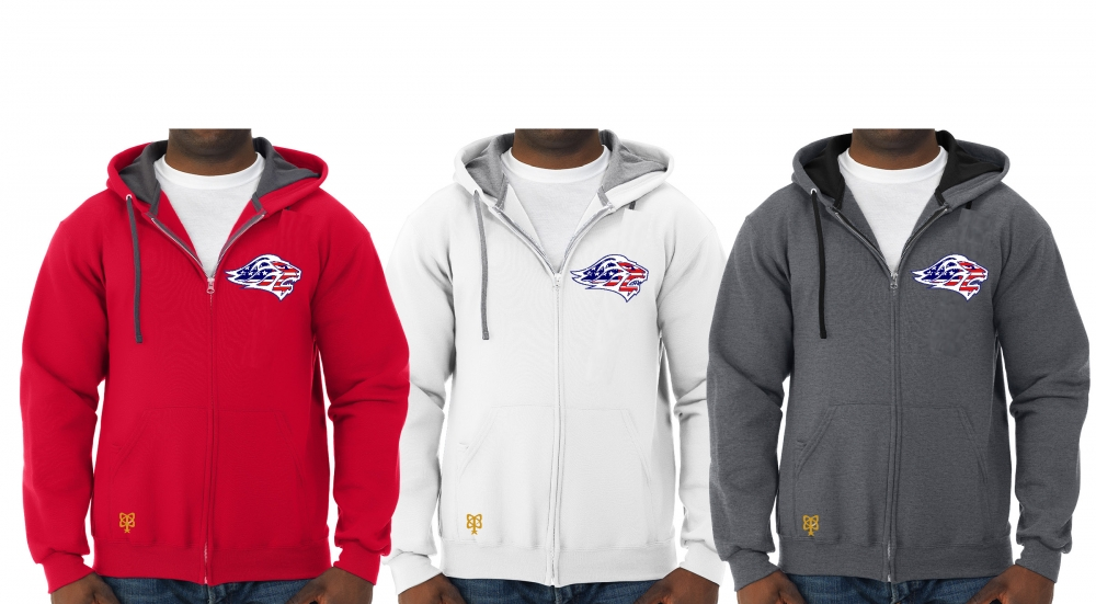 LIONS OFFICIAL TEAM STARS & STRIPES FULL ZIP HOODED JACKETS by PACER