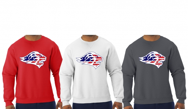 LIONS STARS & STRIPES  OFFICIAL TEAM CREW NECK FLEECE by PACER