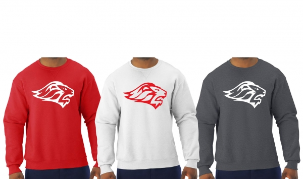 LIONS FASHION COLORED CREW NECK FLEECE by PACER