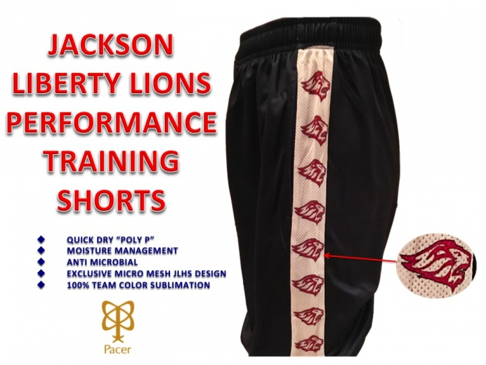 LIONS QUICK-DRY PERFORMANCE MASCOT REPEATING TRAINING SHORTS by PACER