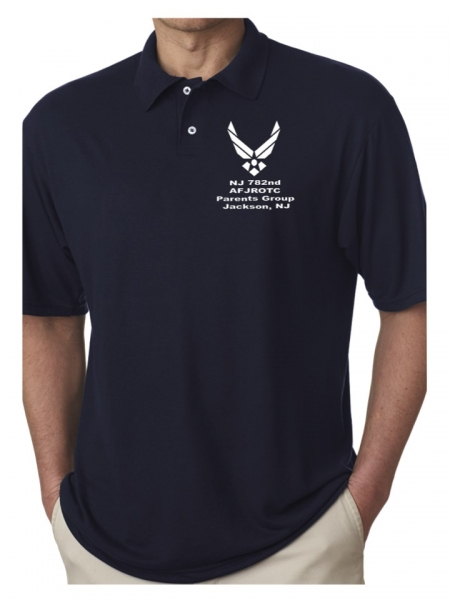 OFFICIAL AIR FORCE JR ROTC 782nd PARENTS GROUP POLO by PACER