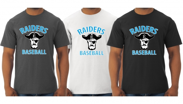 RAIDERS BASEBALL OFFICIAL QUICK-DRI TEE SHIRTS by PACER