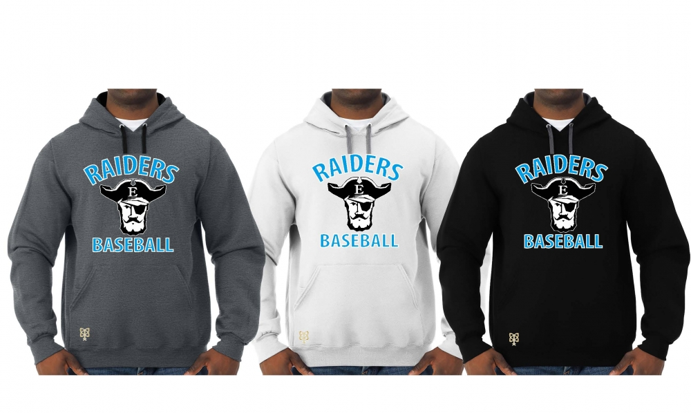 RAIDERS BASEBALL OFFICIAL TEAM PULL OVER HOODIES by PACER