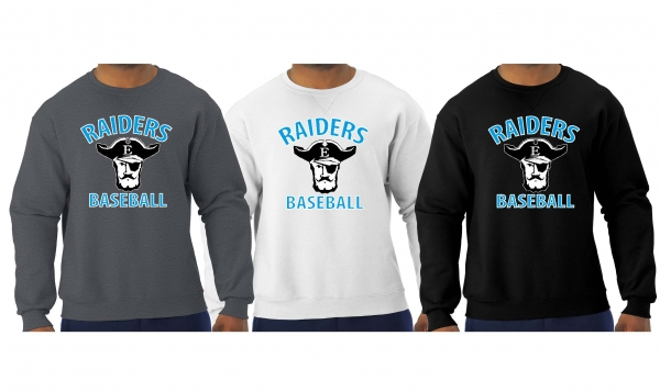 RAIDERS BASEBALL OFFICIAL TEAM CREW NECK FLEECE by PACER
