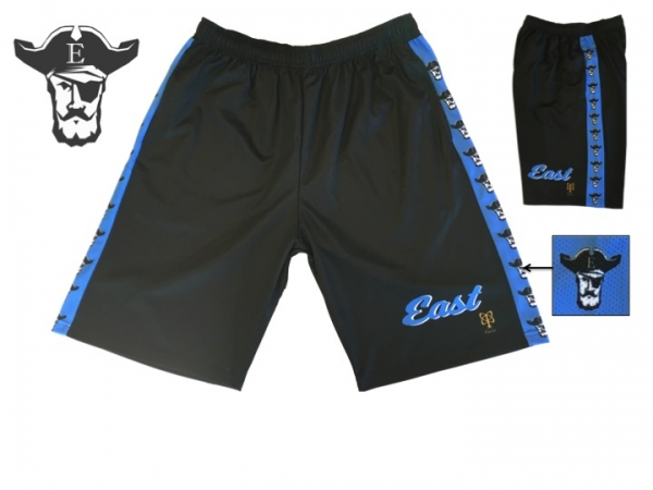 RAIDERS OFFICIAL ON-FIELD SUBLIMATED MASCOT REPEATING TRAINING SHORTS by PACER