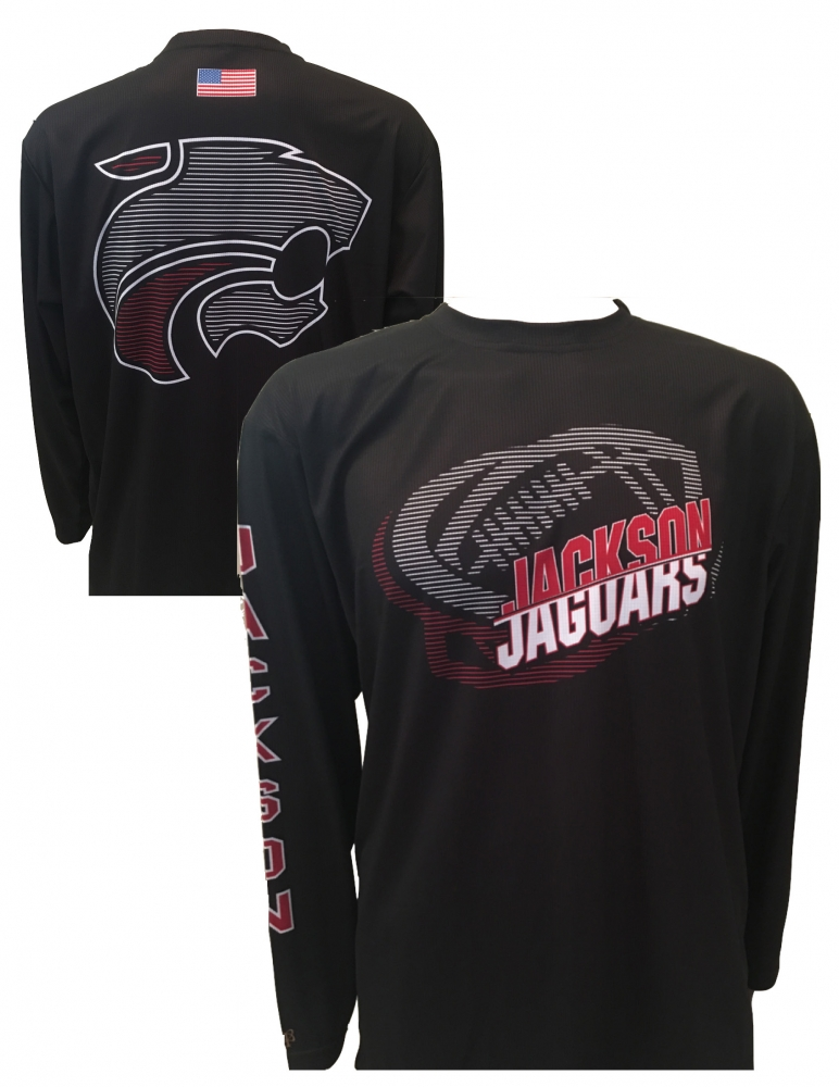 OFFICIAL JACKSON JAGUAR FOOTBALL PERFORMANCE LONG SLEEVE WARM-UP by PACER
