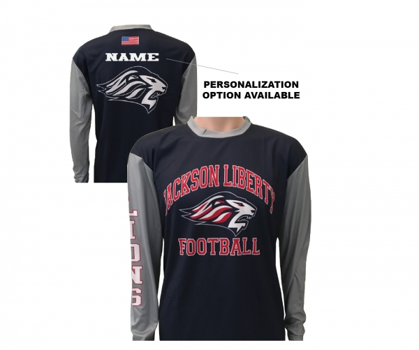 JLHS LIONS FOOTBALL PERFORMANCE LONG SLEEVE WARM-UP by PACER