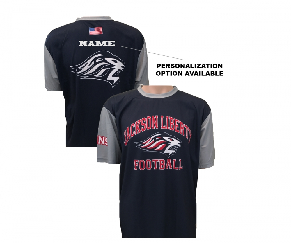 JLHS LIONS FOOTBALL PERFORMANCE TRAINING TEE  by PACER