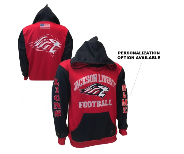 JLHS OFFICIAL LIBERTY LIONS FOOTBALL POLY P LIGHTWEIGHT PERFORMANCE HOODIE by PACER