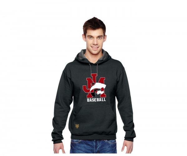 JMHS BASEBALL PULL-OVER FLEECE HOODIE  by PACER