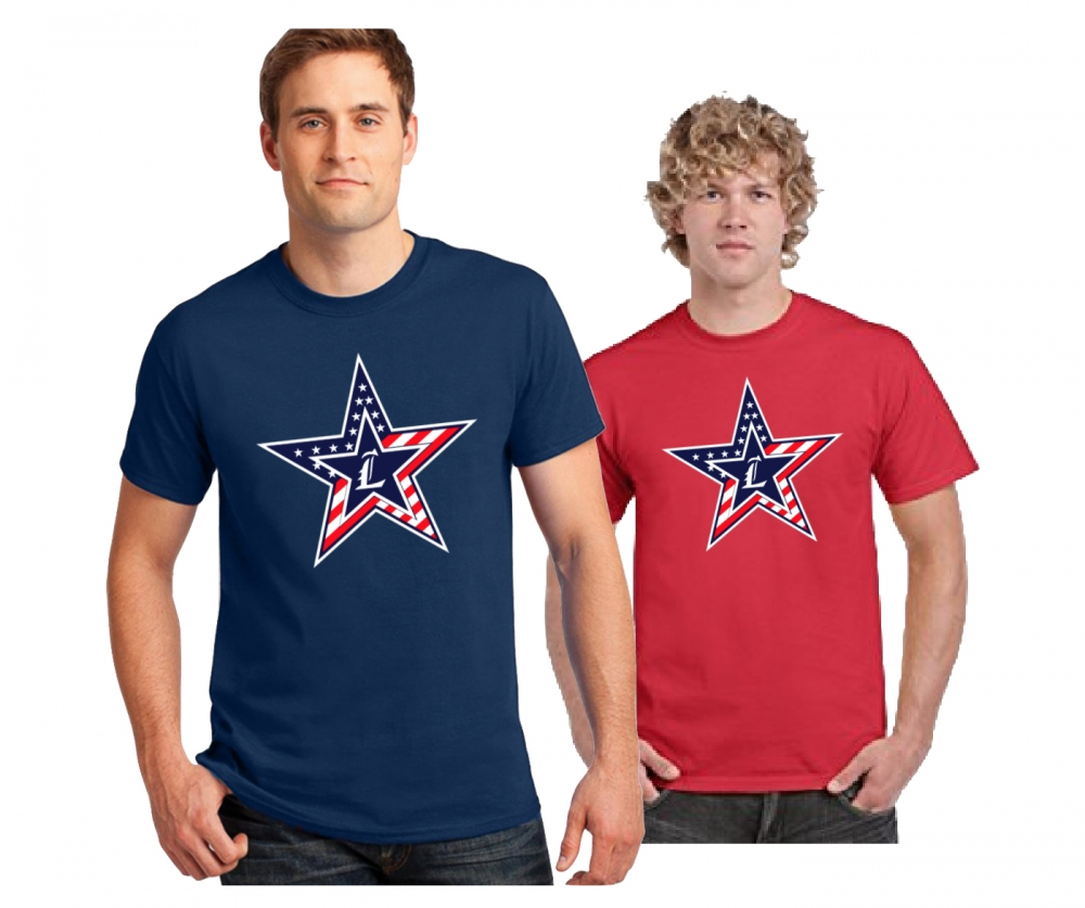 NEW LOGO!! 2018 JLHS STARS & STRIPES DRI-POWER TEE SHIRT  by PACER