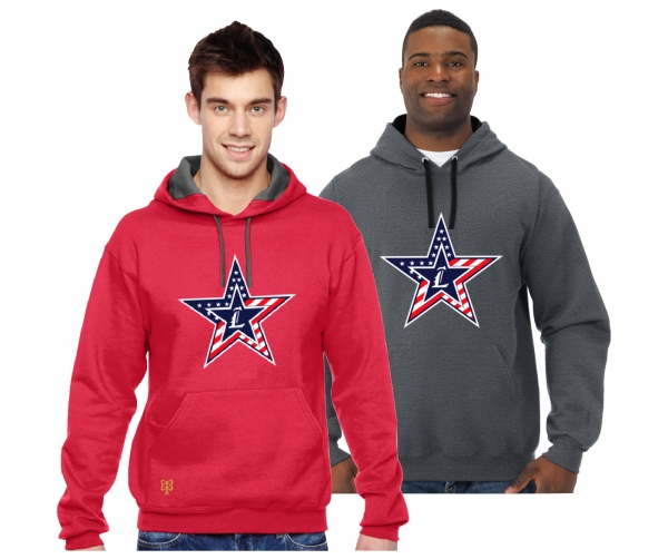 NEW LOGO!! 2018 JLHS STARS & STRIPES PULL-OVER HOODIE  by PACER
