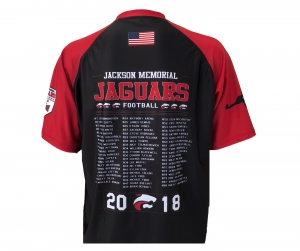 OFFICIAL 2018 JMHS FOOTBALL MASCOT-ROSTER PERFORMANCE COMPRESSION TEE  by PACER