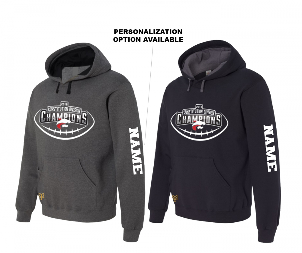 2018 JMHS FOOTBALL DIVISION CHAMPIONS PULL-OVER FLEECE HOODIE by PACER