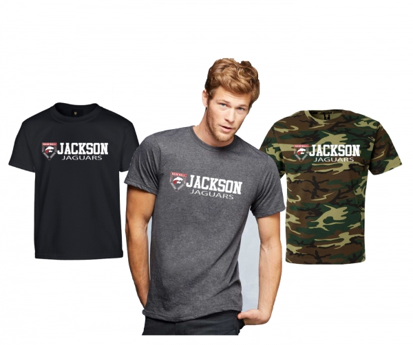 JMHS BASEBALL CREST HORIZON WORDMARK TEE  by PACER