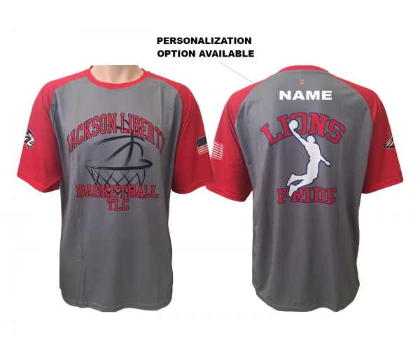 JLHS BASKETBALL OFFICIAL  SUBLIMATED PERFORMANCE TRAINING TEE by PACER