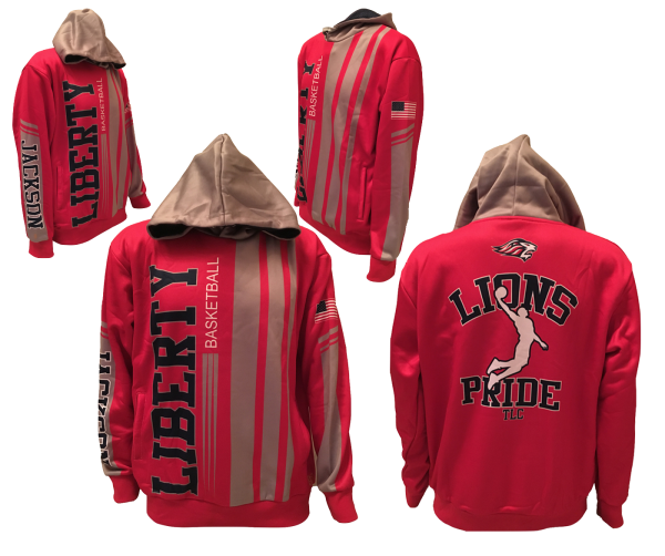 LIBERTY LIONS BASKETBALL PREMIUM PERFORMANCE HOODIE by PACER