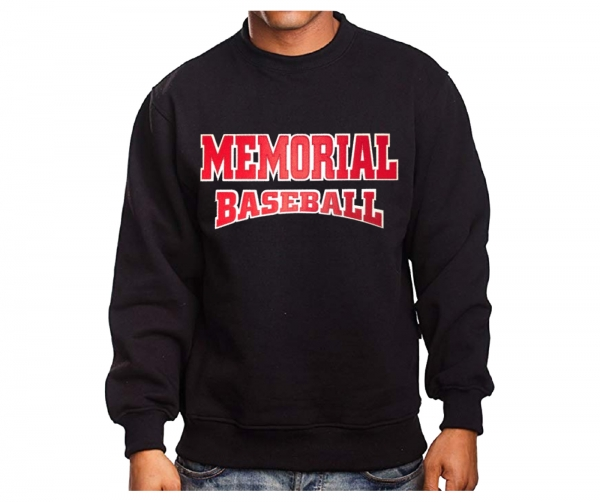MEMORIAL BASEBALL TWILL APPLIQUE CREW NECK FLEECE by PACER