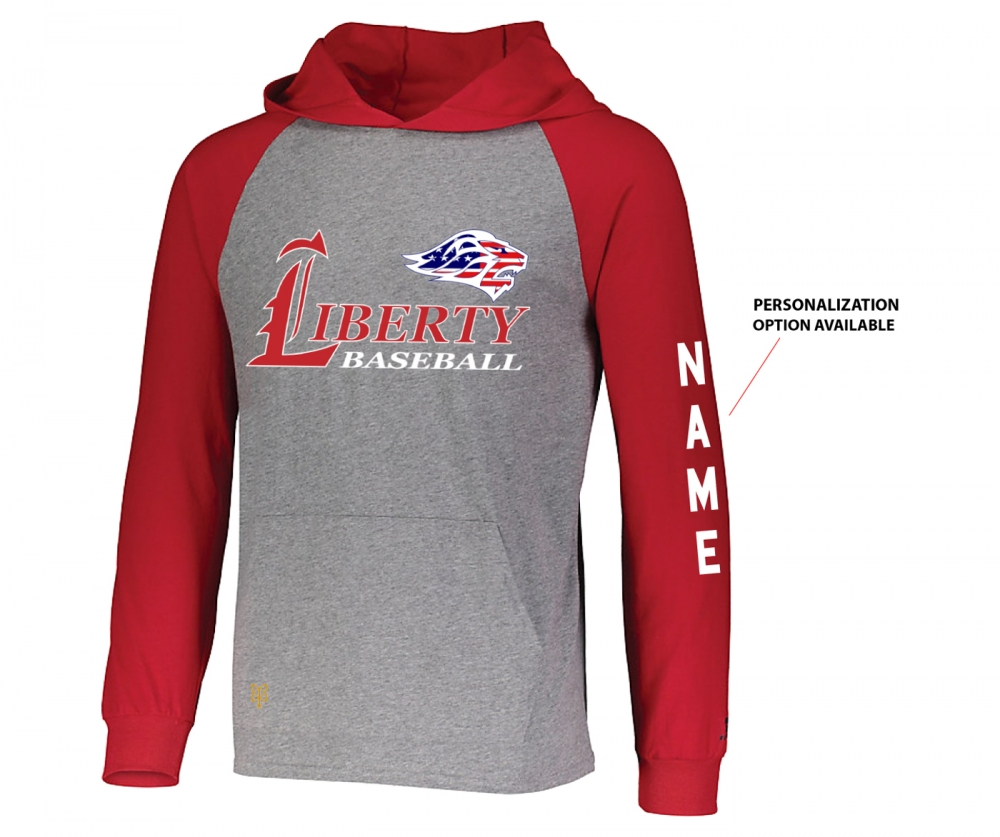 2019 JLHS BASEBALL STARS & STRIPES LIGHTWEIGHT PULL-OVER HOODIE SHIRT by PACER