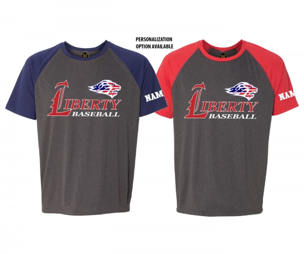 2019 JLHS BASEBALL STARS & STRIPES PERFORMANCE TRAINING TEE SHIRT  by PACER
