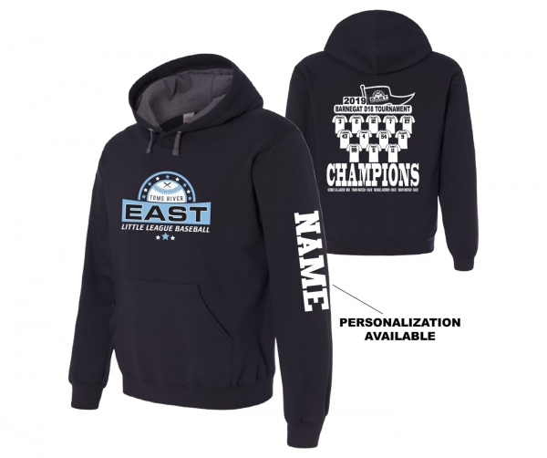 2019 TRELL BARNEGAT D18 TOURNAMENT CHAMPIONSHIP ROSTER HOODIE by PACER