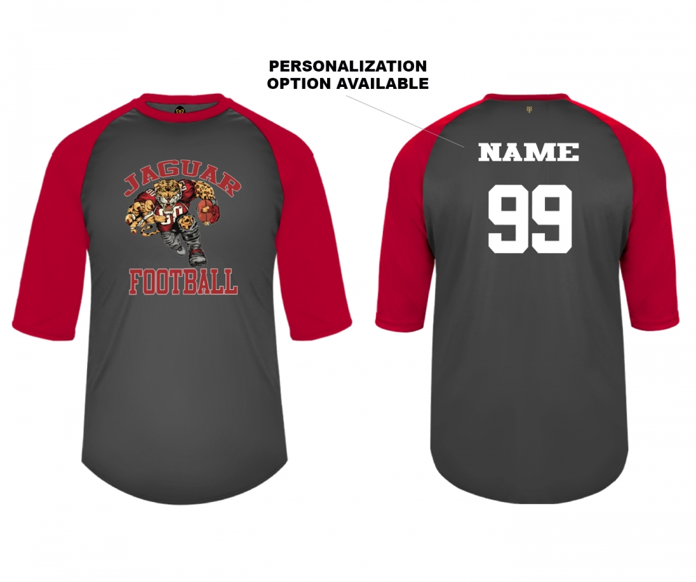 2019 JMHS FOOTBALL HD MASCOT PERFORMANCE 3 QTR SLEEVE TRAINING JERSEY  by PACER