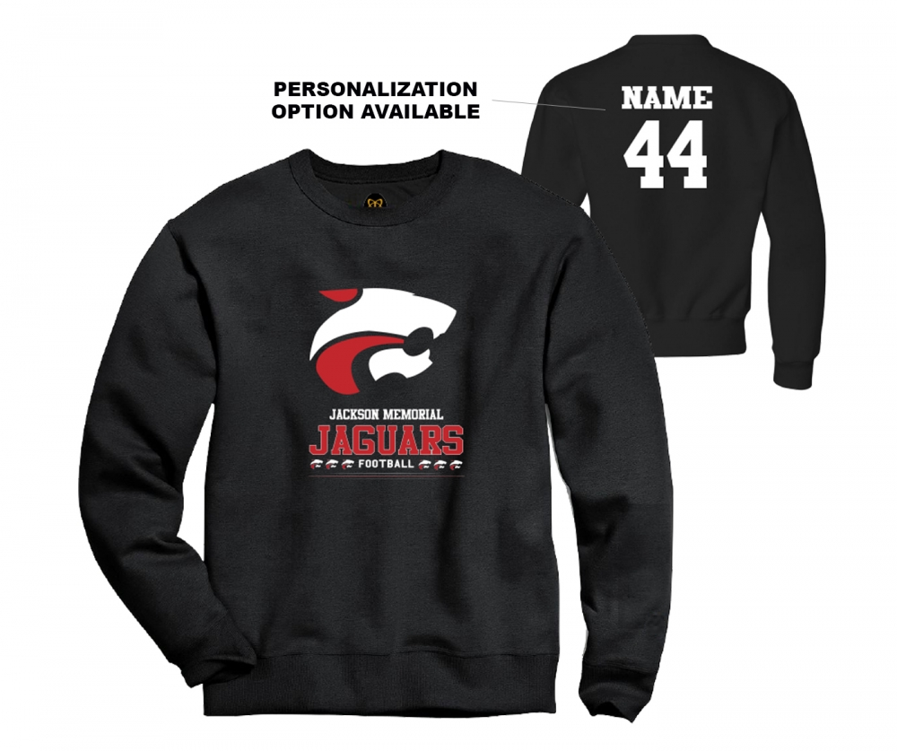 NEW JMHS FOOTBALL PRIMARY LOGO FLEECE CREW by PACER