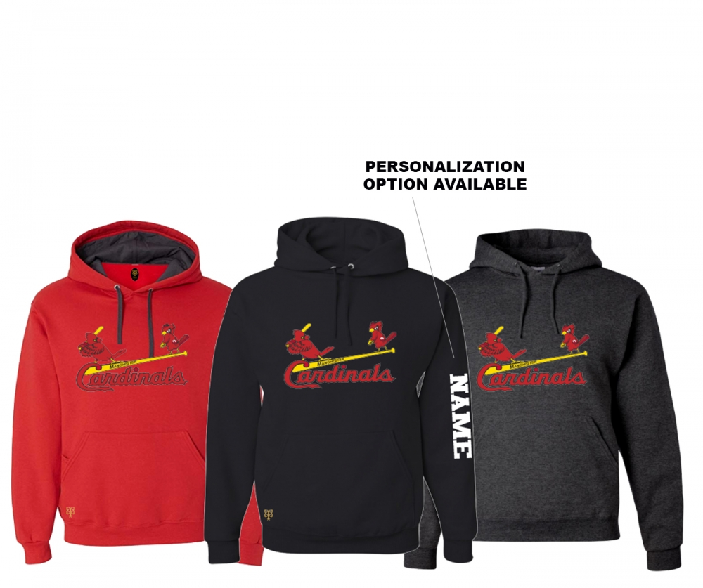 MANCHESTER CARDINALS OFFICIAL PLAYER FLEECE PULL OVER HOODIE by PACER