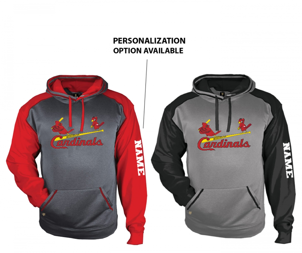 MANCHESTER CARDINALS PREMIUM PERFORMANCE FLEECE PULL-OVER HOODIE by PACER