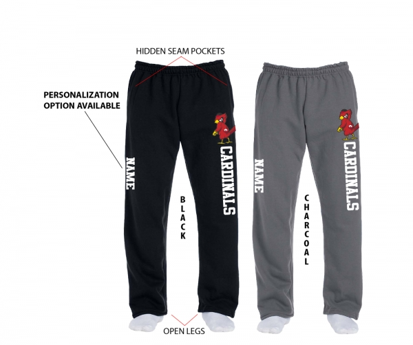 MANCHESTER CARDINALS OFFICIAL FLEECE SWEATPANTS w POCKETS by PACER