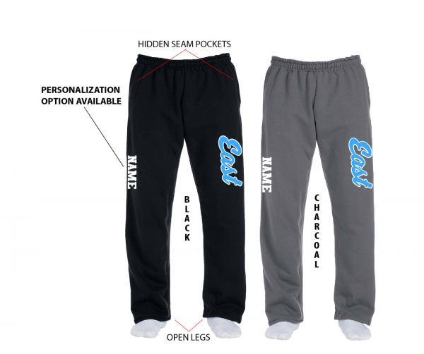 TRELL EAST THROWBACK FLEECE SWEATPANTS w POCKETS by PACER