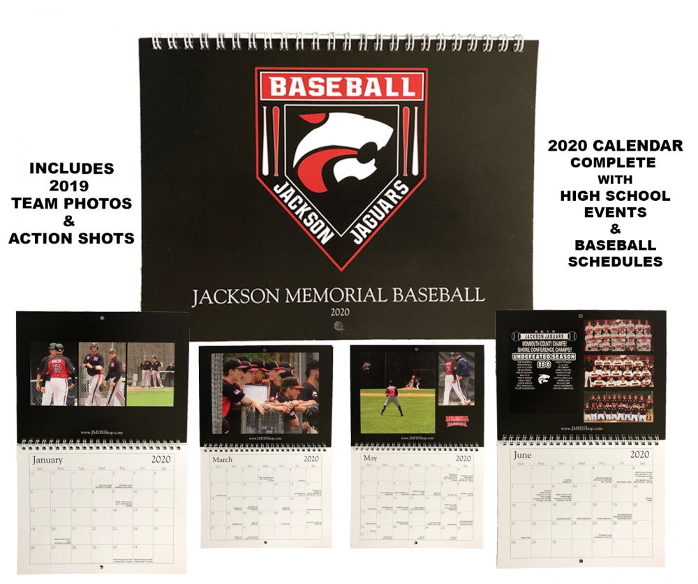NEW!! JAGUAR BASEBALL 2020 12 MONTH CALENDER by PACER
