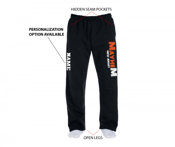 NJ MAYHEM OFFICIAL FLEECE SWEATPANTS w POCKETS by PACER