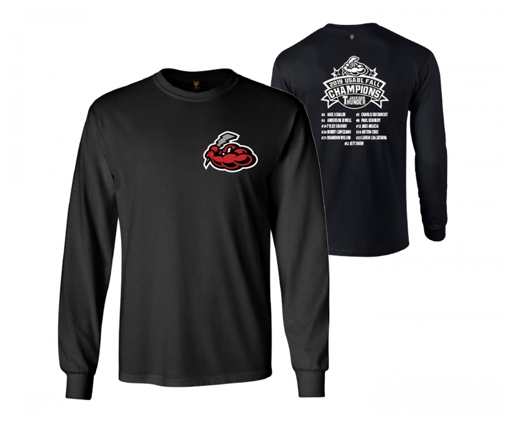 JACKSON THUNDER USABL FALL CHAMPS LONG SLEEVE ROSTER TEE by PACER