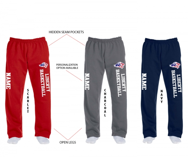 JLHS BASKETBALL OFFICIAL STARS & STRIPES FLEECE SWEATPANTS by PACER