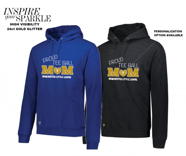 NEW!! 2020 PROUD MOM T-BALL GLITTER HOODIE COLLECTION BY PACER