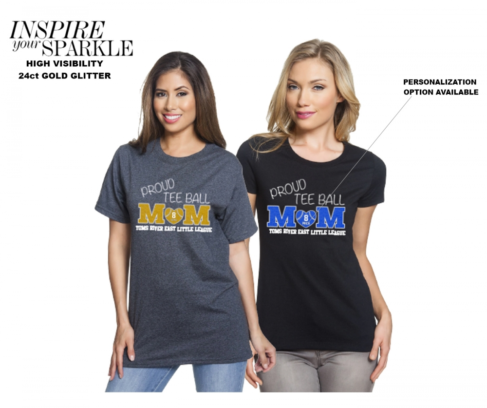 NEW!! 2020 PROUD MOM TEE-BALL GLITTER COLLECTION by PACER