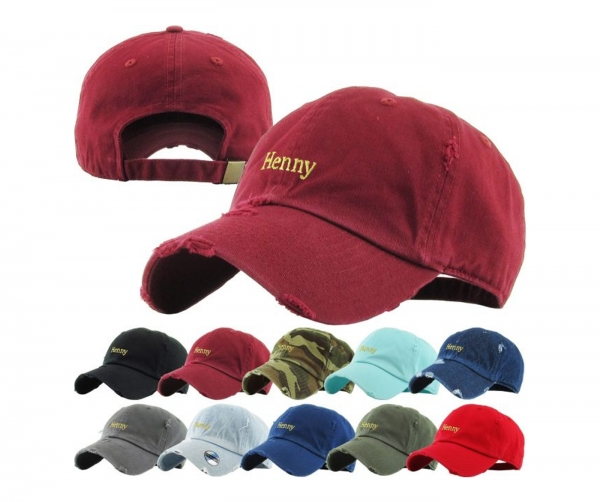HENNY VINTAGE DISTRESSED DAD HAT by Pacer