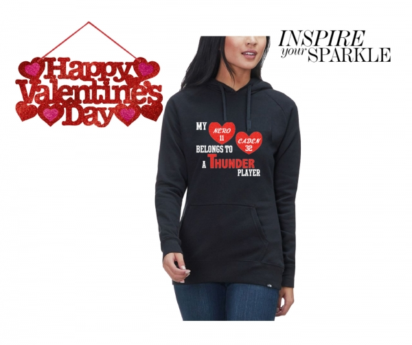 JACKSON THUNDER INSPIRE YOUR SPARKLE PULL OVER GLITTER HOODIE by PACER