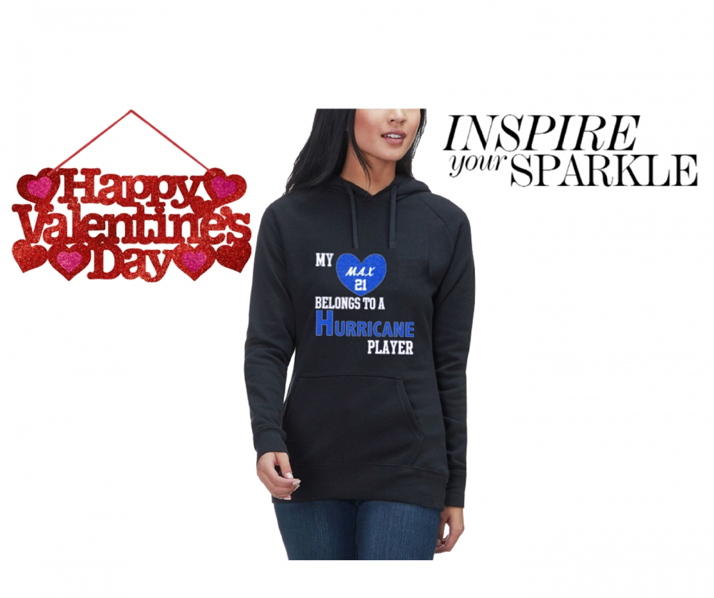 EAST HURRICANES INSPIRE YOUR SPARKLE PULL OVER HOODIE by PACER