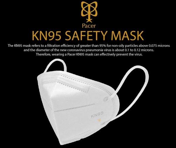 PACER KN95 Mask 3-Pack
