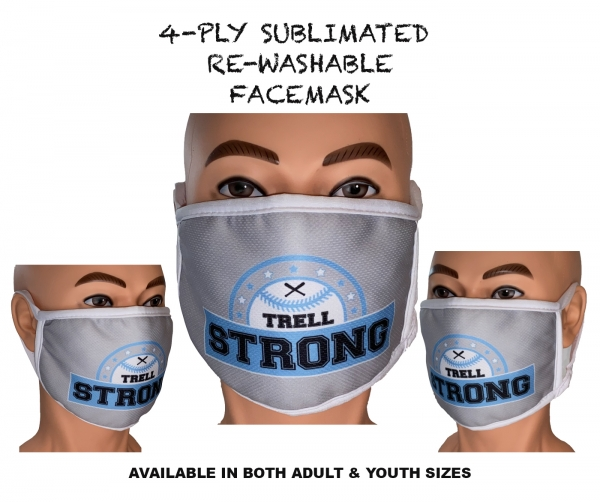 TRELL STRONG 100% SUBLIMATED 4-PLY WASHABLE SAFETY MASK by PACER