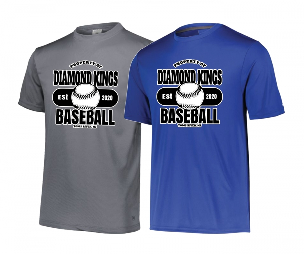 NJ DIAMOND KINGS ESTABLISHED PERFORMANCE SHORT SLEEVE TEE by PACER
