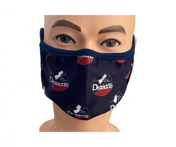 DISTRICT 18 100% SUBLIMATED WASHABLE FACE MASK by PACER