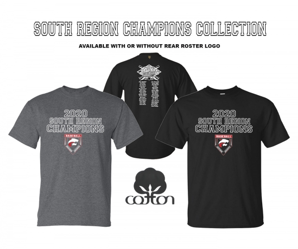 OFFICIAL 2020 SOUTH REGION CHAMPIONSHIP COTTON TEE COLLECTION by PACER