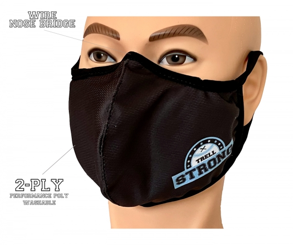 TRELL STRONG 100% SUBLIMATED 2-PLY WASHABLE PERFORMANCE POLY MASK by PACER
