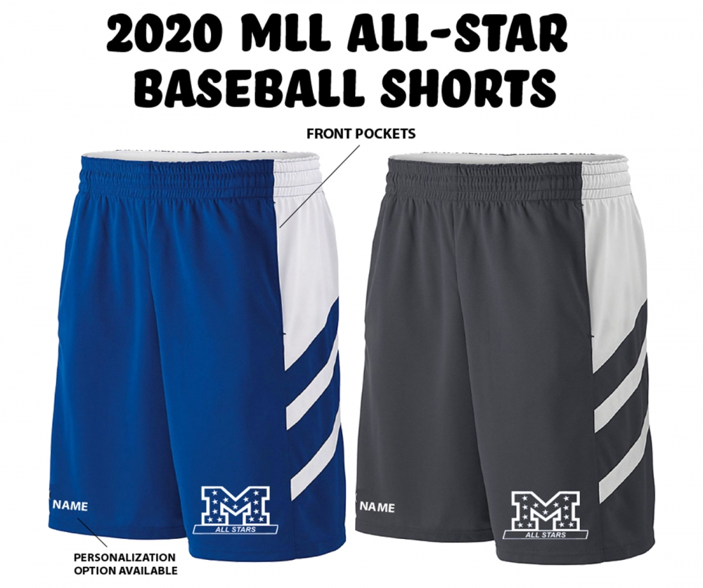 MLL ALL-STARS PERFORMANCE TRAINING SHORTS w POCKETS by PACER