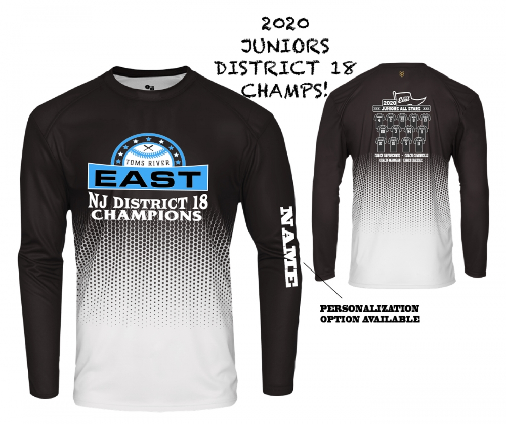 2020 TRELL JUNIORS DISTRICT CHAMPIONS HEX LONG SLEEVE ROSTER JERSEY by PACER
